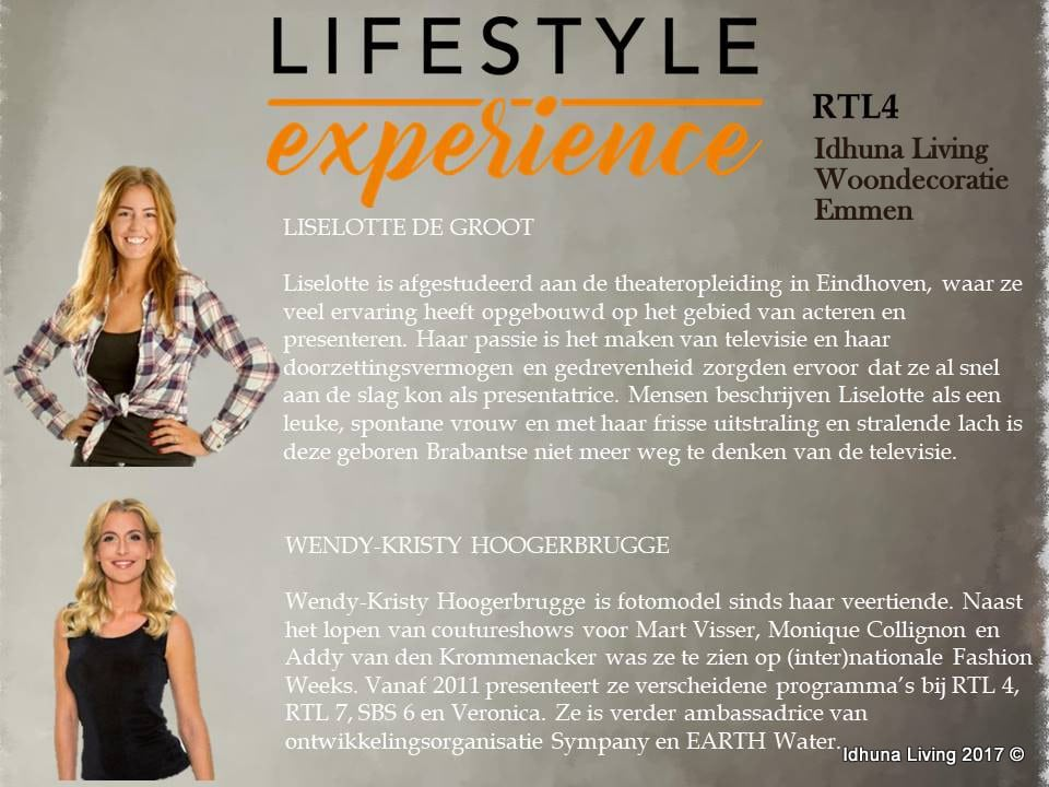 Lifestyle experience RTL 4 Idhuna Living Woondecoratie