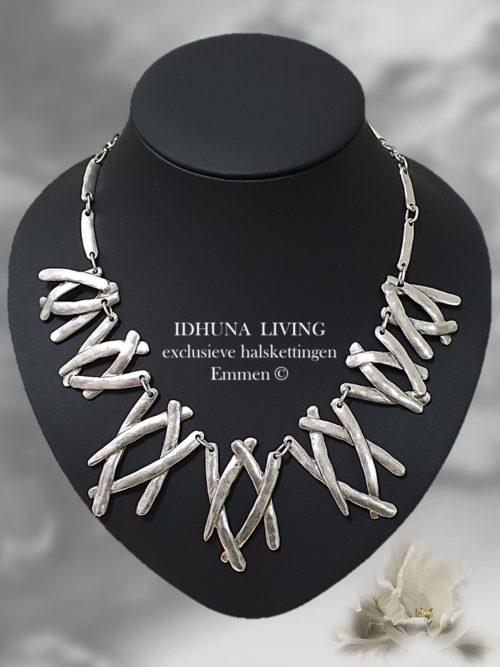 Halsketting dames zilverkleurig TRISHA Chique en elegant Handgemaakt 191020