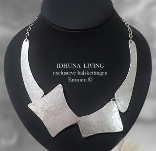 Dames halsketting engeltjeszilver TESKE Modern en chique handgemaakt