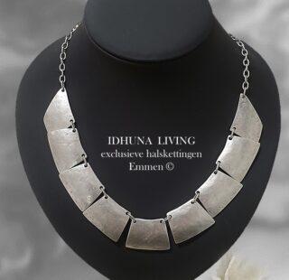 Dames halsketting zilverkleurig TINNE Engeltjeszilver Handgemaakt