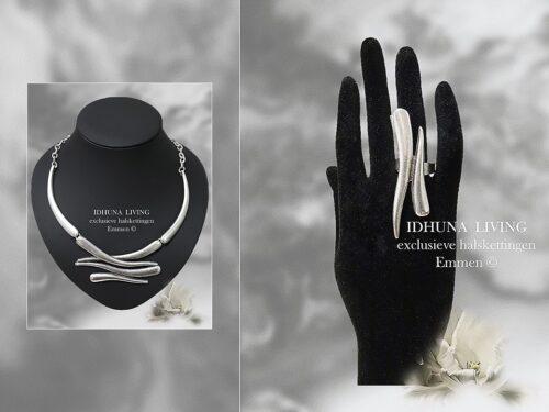Dames ring handgemaakt kleur vintage zilver (handgemaakte sieraden)-1-