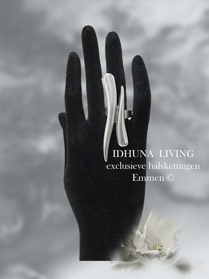Dames ring handgemaakt kleur vintage zilver (handgemaakte sieraden)