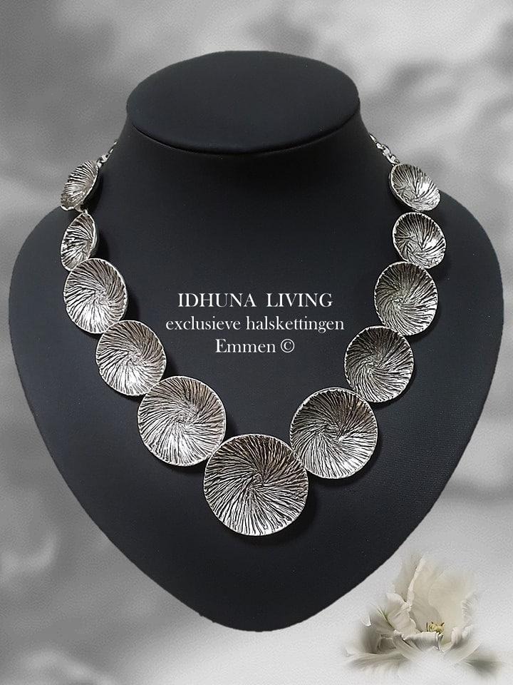 Korte halsketting dames Handmade Vintage look zilverkleurig TESNIM