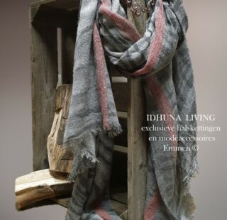 Modeaccessoires Lange sjaal grijs-roze Trendy en modieus 80 x 185 cm 101021