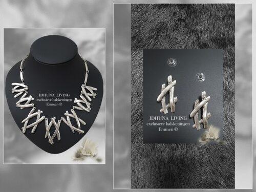 Oorbellen handgemaakt Kleur vintage zilver (handgemaakte sieraden)-1-