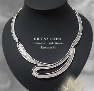 Handgemaakte sieraden Zilverkleurige halsketting dames Modern & chique