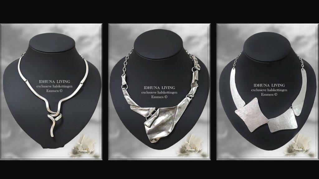 Handgemaakte sieraden dames Kleur vintage zilver Apart en elegant