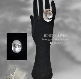 Handgemaakte sieraden Damesring verstelbaar Vintage zilver look