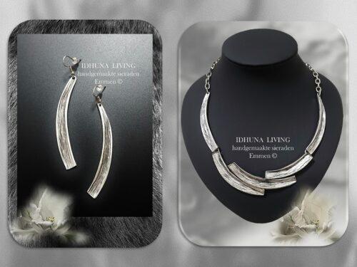 Moderne dames oorbellen handgemaakt zilverkleur halve boog stekers-1-